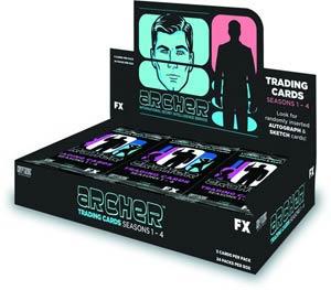 Archer Season 1-4 Trading Cards Box
