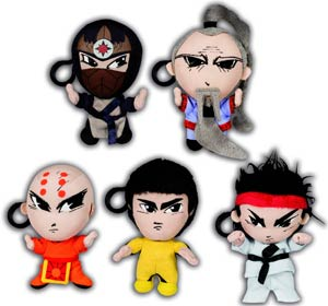 Bruce Lee 4-Inch Little Dragons Plush Assortment Case