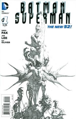 Batman Superman #1 Cover G Incentive Jae Lee Sketch Cover