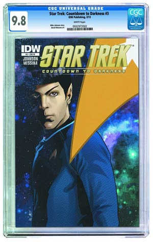 Star Trek Countdown To Darkness #3 Cover C Incentive Variant Cover CGC 9.6 Or Above