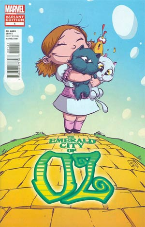 Emerald City Of Oz #1 Cover B Variant Skottie Young Baby Cover