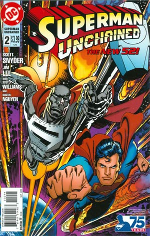 Superman Unchained #2 Cover J Incentive 75th Anniversary Superman Reborn Variant Cover By Jon Bogdanove