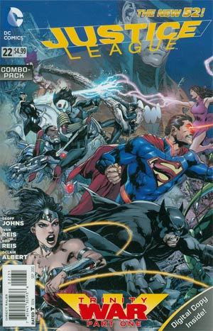 Justice League Vol 2 #22 Cover C Combo Pack Without Polybag (Trinity War Part 1)