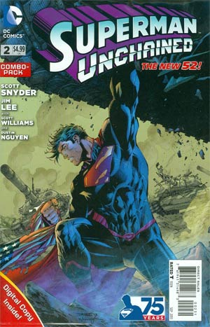 Superman Unchained #2 Cover D Combo Pack Without Polybag