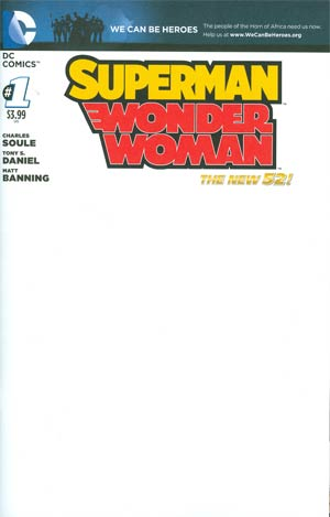 Superman Wonder Woman #1 Cover B Variant We Can Be Heroes Blank Cover