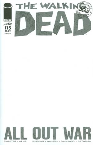 Walking Dead #115 Cover L Variant Blank Cover