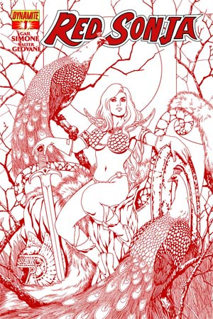 Red Sonja Vol 5 #1 Cover M High-End Colleen Doran Blood Red Ultra-Limited Cover (ONLY 50 COPIES IN EXISTENCE!)