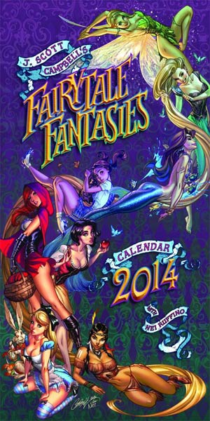 J Scott Campbell Fairy Tale Fantasies 2014 Calendar Regular Edition