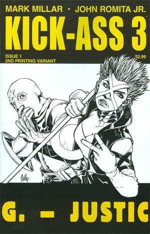 Kick-Ass 3 #1 Cover I 2nd Ptg Variant Cully Hamner Cover