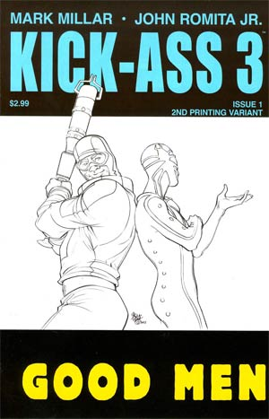 Kick-Ass 3 #1 Cover K 2nd Ptg Variant Pasqual Ferry Cover