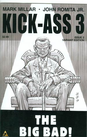 Kick-Ass 3 #2 Cover C Incentive John Romita Jr Sketch Cover