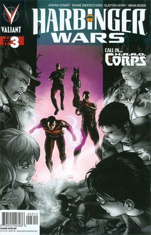 Harbinger Wars #3 Cover E 2nd Ptg