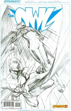 Owl Vol 2 #2 Cover C Incentive Alex Ross Black & White Cover