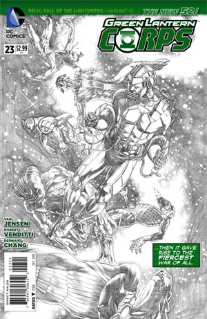 Green Lantern Corps Vol 3 #23 Cover B Incentive Rags Morales Sketch Variant Cover