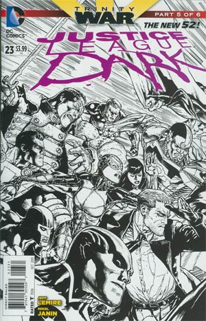 Justice League Dark #23 Cover C Incentive Doug Mahnke Sketch Cover (Trinity War Part 5)