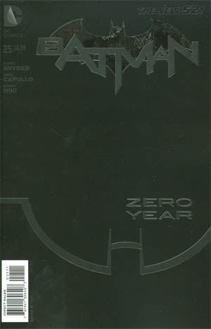 Batman Vol 2 #25 Cover A Regular Greg Capullo Cover (Batman Zero Year Tie-In)