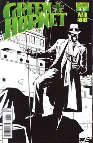 Mark Waids Green Hornet #5 Cover C Incentive Paolo Rivera Black & White Cover