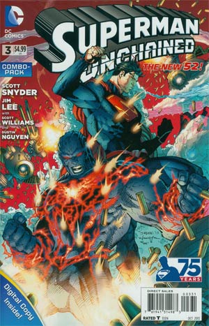 Superman Unchained #3 Cover D Combo Pack Without Polybag