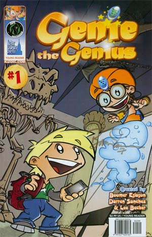 Genie The Genius #1 Cover B Incentive Signed By Boomer Esiason