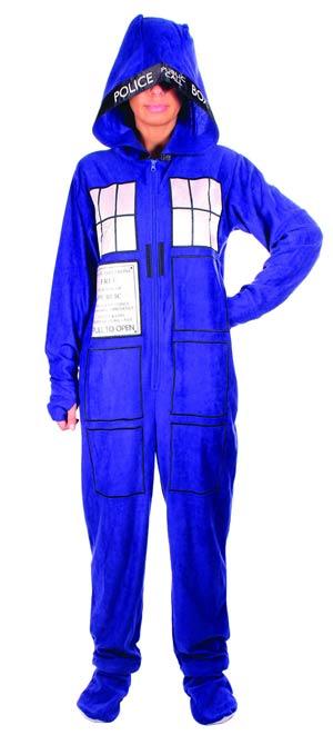Doctor Who Tardis 1-Piece Pajama Large