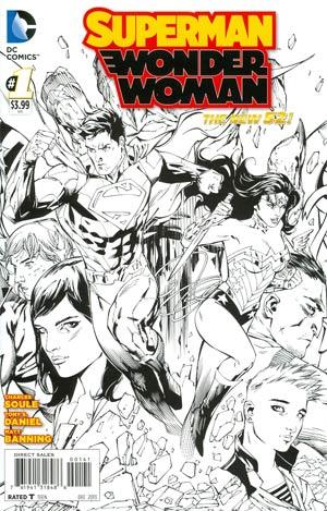 Superman Wonder Woman #1 Cover G Incentive Tony S Daniel Sketch Cover
