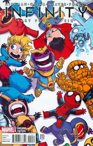 Infinity #4 Cover B Variant Skottie Young Baby Cover