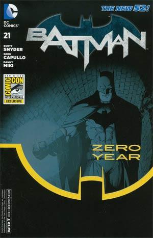 Batman Vol 2 #21 Cover G Year Zero 2013 San Diego Comic-Con Exclusive Variant Cover (Batman Zero Year Tie-In)