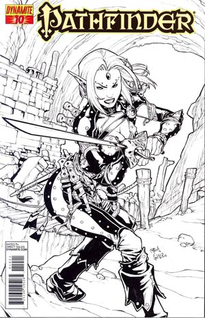 Pathfinder #10 Cover C Incentive Carlos Gomez Black & White Cover