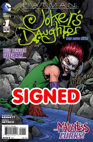 Batman Jokers Daughter #1 Cover B Signed By Marguerite Bennett