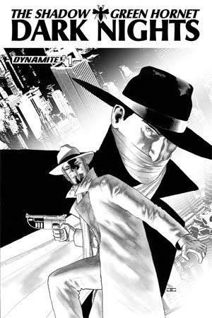 Shadow Green Hornet Dark Nights #1 Cover D High-End John Cassaday Black & White Ultra-Limited Cover (ONLY 50 COPIES IN EXISTENCE!)