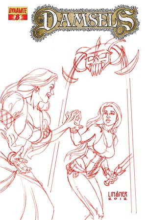 Damsels #8 Cover E High-End Joseph Michael Linsner Rose Red Ultra-Limited Cover (ONLY 25 COPIES IN EXISTENCE!)