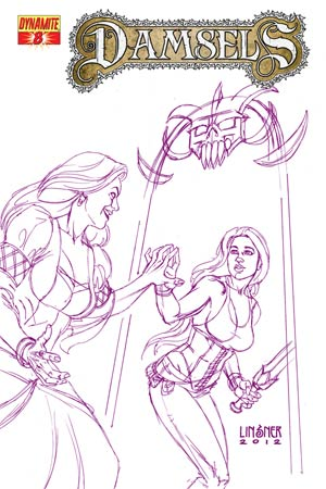 Damsels #8 Cover F High-End Joseph Michael Linsner Royal Purple Ultra-Limited Cover (ONLY 10 COPIES IN EXISTENCE!)