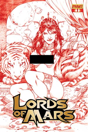 Lords Of Mars #1 Cover H High-End Marcio Abreu Risque Red Ultra-Limited Cover (ONLY 50 COPIES IN EXISTENCE!)