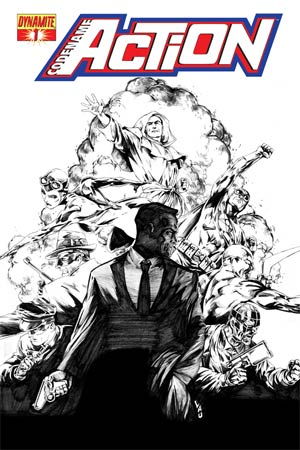 Codename Action #1 Cover J High-End Jonathan Lau Black & White Ultra-Limited Cover (ONLY 50 COPIES IN EXISTENCE!)