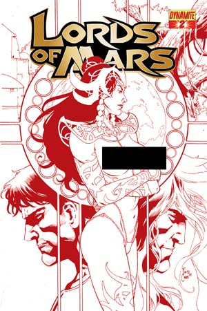 Lords Of Mars #2 Cover D High-End Fritz Casas Risque Red Ultra-Limited Cover (ONLY 50 COPIES IN EXISTENCE!)