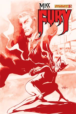 Miss Fury Vol 2 #6 Cover H High-End Billy Tan Blood Red Ultra-Limited Cover (ONLY 75 COPIES IN EXISTENCE!)