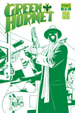 Mark Waids Green Hornet #6 Cover C High-End Paolo Rivera Emerald Green Ultra-Limited Cover (ONLY 50 COPIES IN EXISTENCE!)