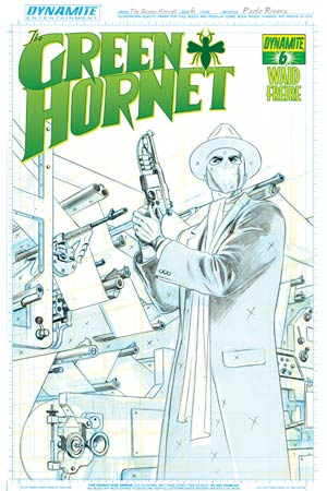 Mark Waids Green Hornet #6 Cover D High-End Paolo Rivera Art Board Ultra-Limited Cover (ONLY 25 COPIES IN EXISTENCE!)
