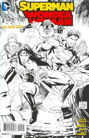 Superman Wonder Woman #2 Cover E Incentive Tony S Daniel Sketch Cover