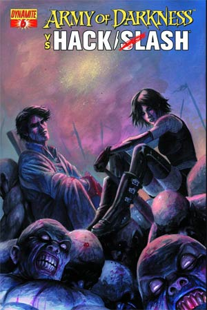 Army Of Darkness vs Hack Slash #6 Cover A Regular Stefano Caselli Cover