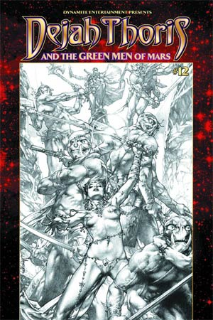Dejah Thoris And The Green Men Of Mars #12 Cover B Variant Jay Anacleto Black & White Subscription Cover
