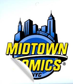 Midtown Comics 3-Inch Sticker
