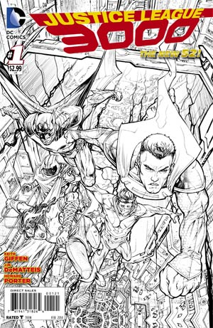 Justice League 3000 #1 Cover B Incentive Howard Porter Sketch Cover