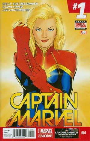 Captain Marvel Vol 7 #1 Cover A 1st Ptg Regular David Lopez Cover
