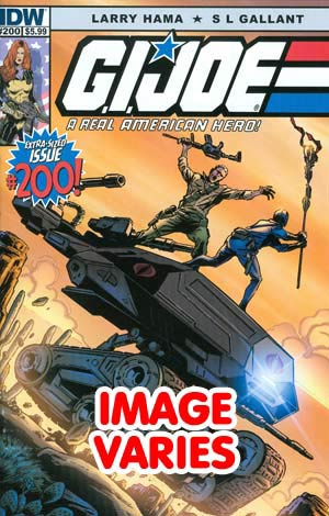 DO NOT USE (DUPLICATE LISTING) GI Joe A Real American Hero #200 Regular Cover (Filled Randomly With 1 Of 2 Covers)