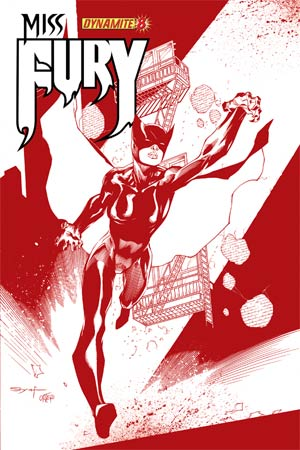 Miss Fury Vol 2 #8 Cover H High-End Ardian Syaf Blood Red Ultra-Limited Cover (ONLY 75 COPIES IN EXISTENCE!)