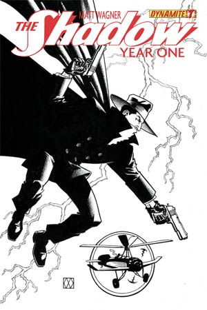 Shadow Year One #7 Cover I High-End Matt Wagner Black & White Ultra-Limited Variant Cover (ONLY 25 COPIES IN EXISTENCE!)