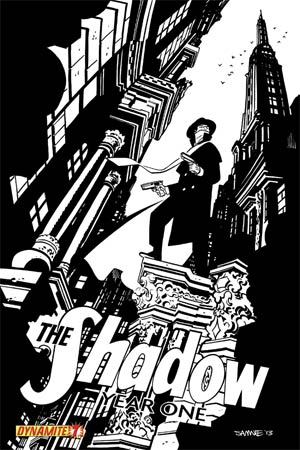 Shadow Year One #7 Cover H High-End Chris Samnee Black & White Ultra-Limited Variant Cover (ONLY 50 COPIES IN EXISTENCE!)