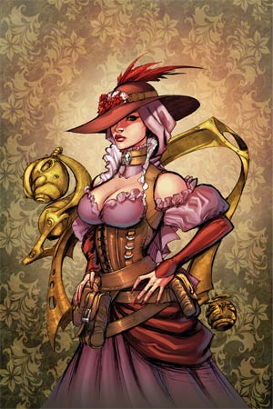 Legenderry A Steampunk Adventure #2 Cover E High-End Joe Benitez Virgin Art Ultra-Limited Variant Cover (ONLY 50 COPIES IN EXISTENCE!)