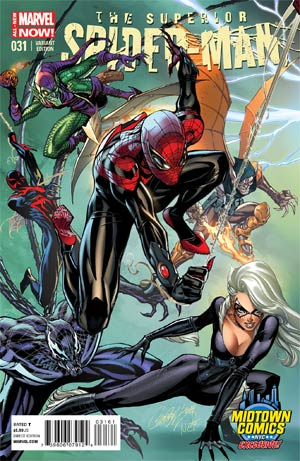 Superior Spider-Man #31 Cover B Midtown Exclusive J Scott Campbell Connecting Color Variant Cover (1 of 3)